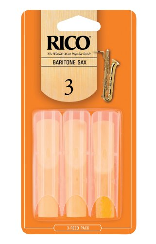 Rico Baritone Sax Reeds, Strength 3.0, 3-pack