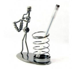 GC Wrought Iron Art Gift Saxophone band Style Pen Holder D002