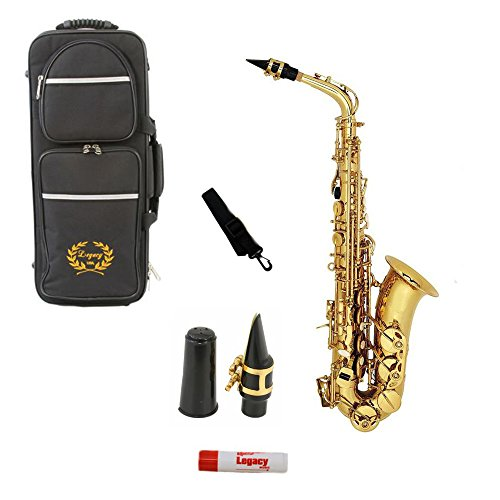 Legacy AS1000 Intermediate Alto Saxophone with Case, Accessories and Mouthpiece